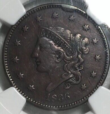 1836 Large Cent NGC XF 45 BN