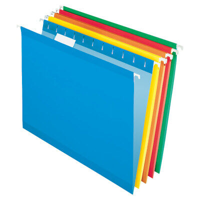 Office Depot Brand Letter Size Hanging Folders, Assorted Colors, 25-Pack