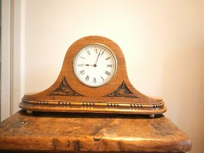 Antique Vintage wooden clock with original winding key