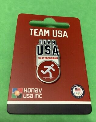 Tokyo Japan 2020 Summer Olympics New Release For Team Usa Skateboarding Pin