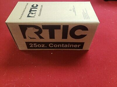 RTIC 25oz Container Black Food Prep Lunch NIB 24hr Ice 6hr Hot No Sweat Gifting+