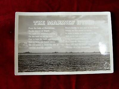 Vintage Postcard The Marines Hymn Postcard Unused