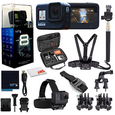 GoPro HERO8 Black Digital Action Camera Waterproof, Touch Screen, 4K UHD Video,