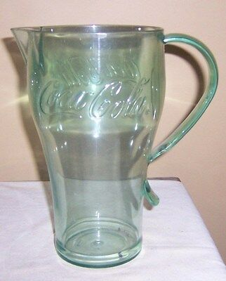 ~~ Coca Cola ~~  Green Large Plastic Coke Pitcher