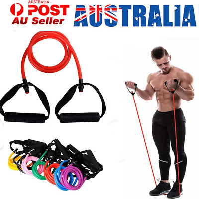 Yoga Elastic Resistance Bands Loop Exercise Gym Fitness Workout Stretch Physio A