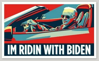 """Ridin With Biden"" Joe Biden For President Bumper Sticker Decal Democrat"