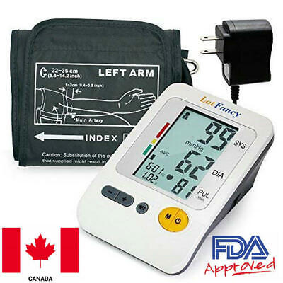 Automatic Medium Arm Blood Pressure Monitor BP +Adapter Machine Tester Meter CA