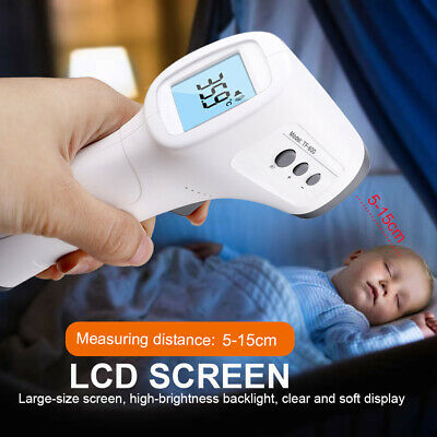 Non-Contact LCD Digital IR Infrared Forehead Thermometer Adult Body Temperature