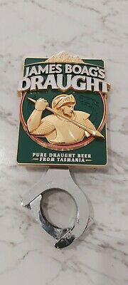 James Boag's Draught Beer Badge Tap Top Decal on badge mount (Solid weight!)