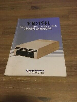 Commodore Vic 1541 Disk Drive Disc Drive User Guide Manual