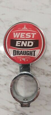 West End Draught Beer Badge Tap Top Decal on badge mount
