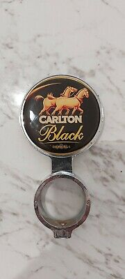 RARE Carlton Black Dark Ale Beer Badge Tap Top Decal on badge mount