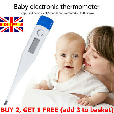 Digital Thermometer Safe Baby Adult Oral Alarm Health Body Check Temperature NEW
