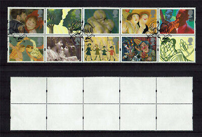 GB 1995 SG 1858/67 'Greeting Stamps: Greetings'  fine used block.