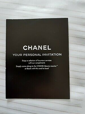 Chanel Gift Voucher Mothers Day Boots counter