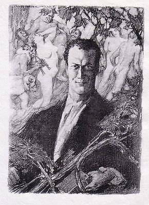 NORMAN LINDSAY 'HUGH McCRAE' 1928  LIMITED EDITION OF 550