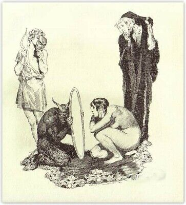 Norman Lindsay  'Slander Depicted'  1928  Original Limited Edition Of 550