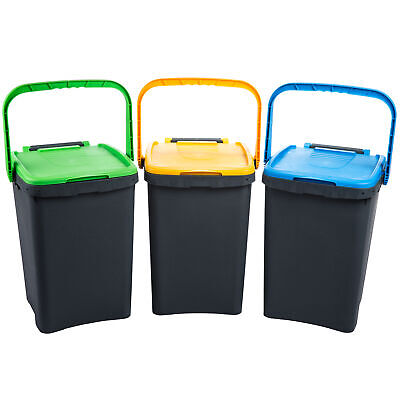 3 for Waste Bin for Waste Ecoplus with Handle 50 L Colours Assorted