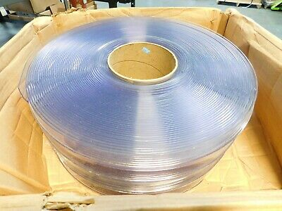 "TMI PVC Offset Double Ribbed Strip Clear 8"" Width Approx 150 FT 21-08-072-150"
