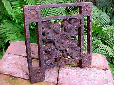 Antique Victorian Cast Iron Rustic Grid Detroit Depot Shabby Chic Architectural