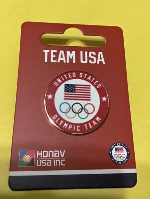 Tokyo Japan 2020 Summer Olympics - U.s. Olympic Team New Red Official Round Pin