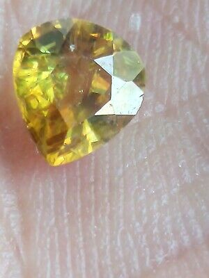 Sphene Pakistan 1,07ct VS  Brownish Yellow poire  unheated  , 6,84/6,30/3,71mm
