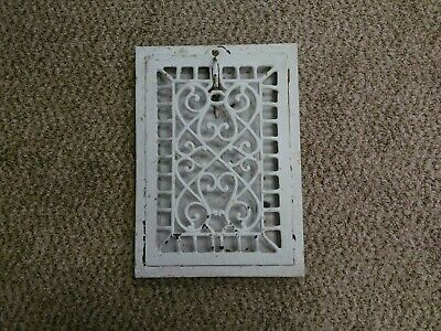 Antique Vintage Victorian Arts And Craft Cast Iron Wall Heat Register Vent 9x12