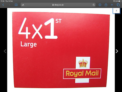 4 x Royal mail First class LARGE letter stamps in a booklet