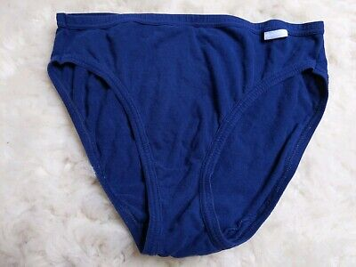 Vintage Jockey Semi Sheer Blue Cotton Stretchy Hi Cut Briefs Panties 7 Large