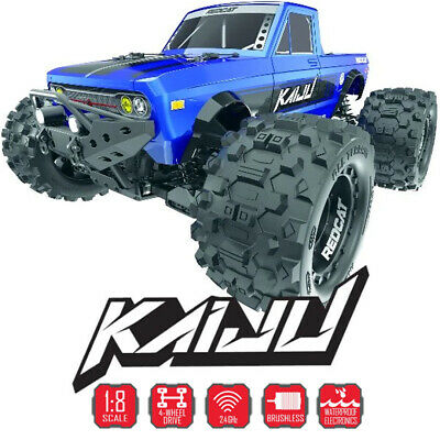 Redcat KAIJU 1/8 Brushless Monster Truck Off-Road 4WD Blue RTR w/ 2.4Ghz Radio