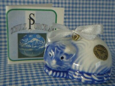 Vintage Schulz Porcelain Oregon Glimmer Kitty Cat Ornament ~ FREE SHIPPING