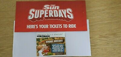 Chessington World Of Adventure Tickets X 2 Monday 11th May 2020
