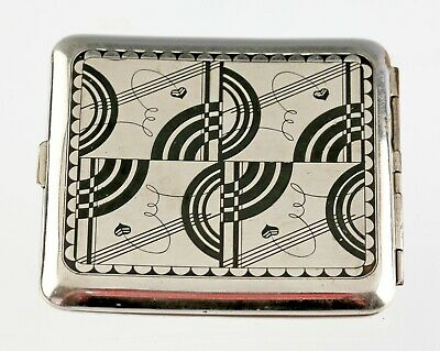 Fantastic Art Deco Machine Age Cigarette Case 1930s Moderne Geometric
