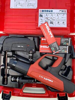 Hilti Dx5 Nail Gun With X-5-460-F8 Fastener Guide And Mx 72