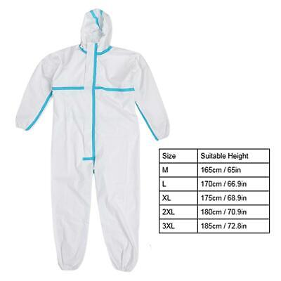 Protective Disposable Hooded Coveralls Safety Clothing Work Suit For Man Woman