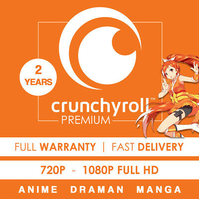 Crunchyroll Premium   2 YEARS SUBSCRIPTION   Instant Delivery & Warranty