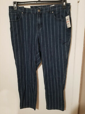 Women's Pants Style&Co Blue  Jagger Mid Rise Slim Ankle Plus Size 14W NWT $3.99