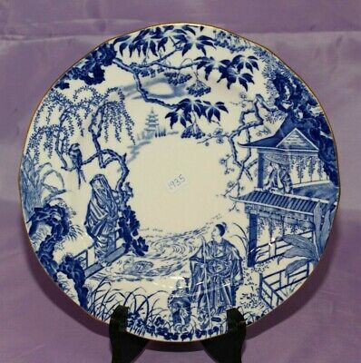 "1935 Royal Crown Derby BLUE MIKADO 9 1/8"" Inch Dinner Dessert Salad Plate"