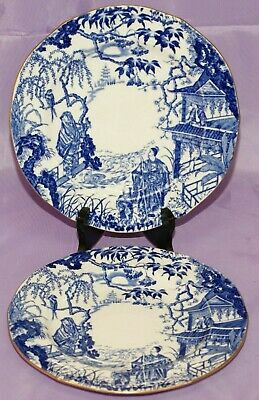 "Royal Crown Derby BLUE MIKADO 9"" Inch Dinner Dessert Salad Plate"