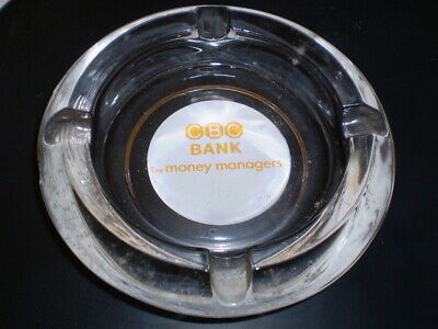 Heavy old Australian Bank ashtray  - CBC Bank - The money managers