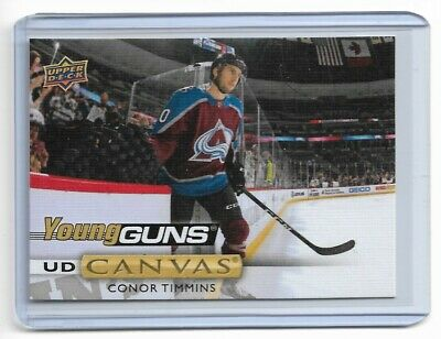 2019-20 Upper Deck Canvas #C237 Conor Timmins Yg Ud Young Guns Avalanche
