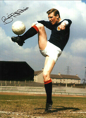 Billy Mcneill Scotland Hand Signed 16 x 12 inch authentic football photo SS950H