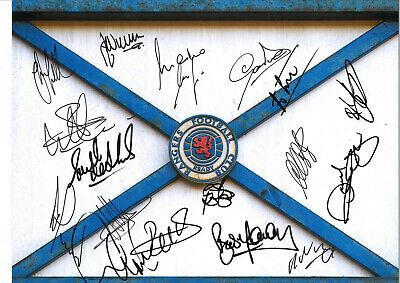 Rangers FC Legends Multi Signed 16 x 12 inch authentic football photo SS978