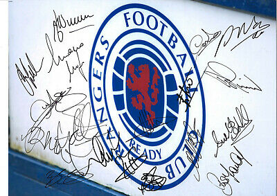 Rangers FC Legends Multi Signed 16 x 12 inch authentic football photo SS978B