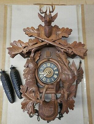Black Forest Cuckoo Clock Made In West Germany In Working Condition