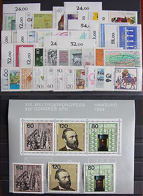 Germany Complete Year 1984 Stamp Set + Souvenir Sheet Singles MNH German Stamps