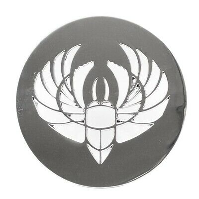 Scarab Boat Logo Plate 031-1794   5 Inch Polished Stainless Steel