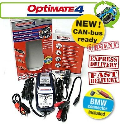 New Optimate 4 (inc BMW/Ducati Connector) CAN-bus Compatible 12V Battery Charger