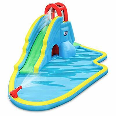 Deluxe Inflatable Water Slide Park - Heavy-Duty Nylon for Outdoor Fun - Climbing
