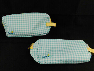 Pampers travel pouch multicolored bag for diaper, wipes etc lot of 2 NEW